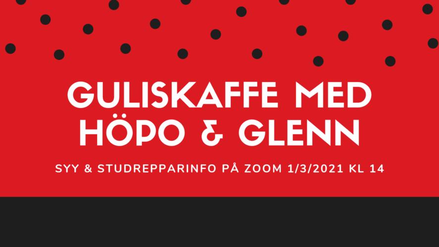 Guliskaffe med höpo & Glenn